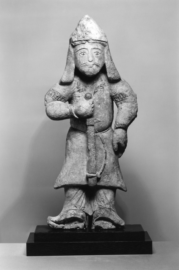 Standing Warrior Holding a Sword