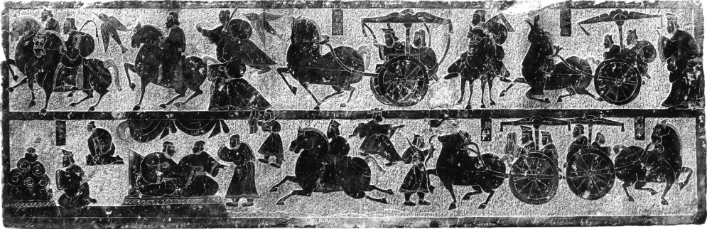 Copy of a 2nd-century Han Tomb Relief with Narrative Scenes