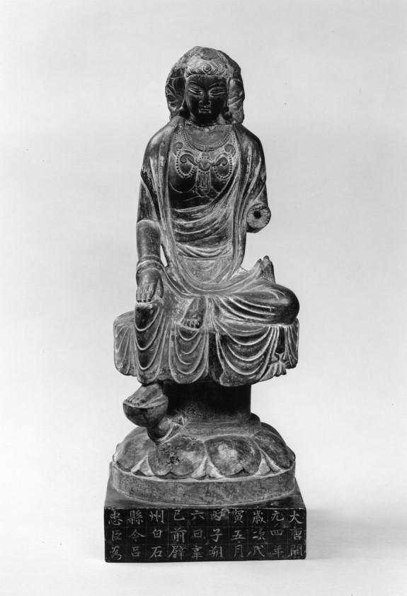 Maitreya (?) Seated on a Lotus Throne