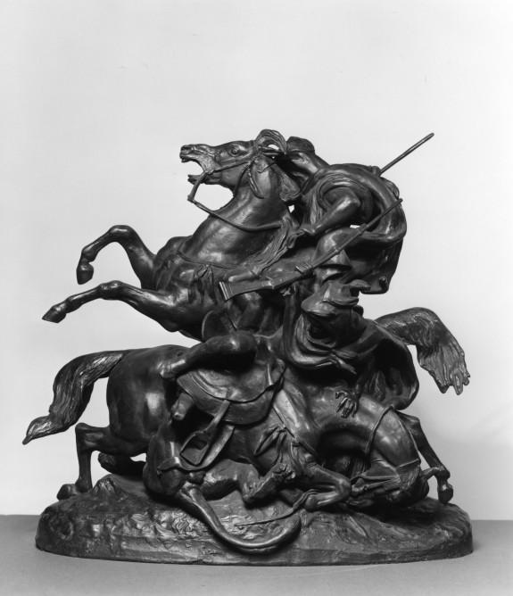 Mounted Arabs Killing a Lion
