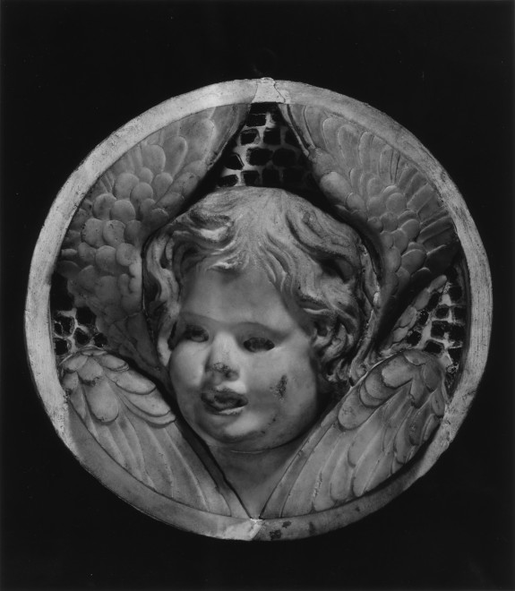 Head of a Cherub Singing, Turned to the Left