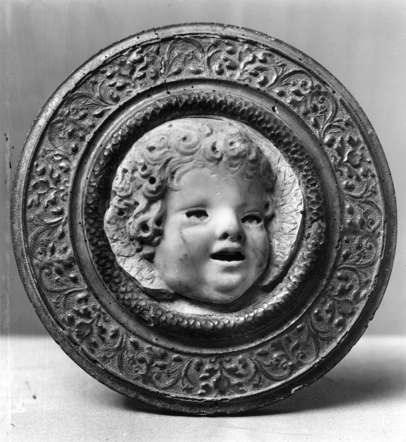 Head of a Cherub Singing Turned to the Right