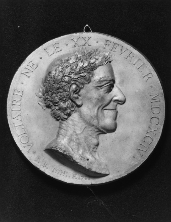 Portrait Medallion with Head of Voltaire