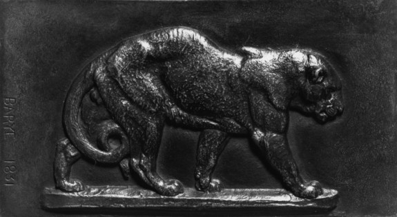 Small Plaque with a Panther Walking