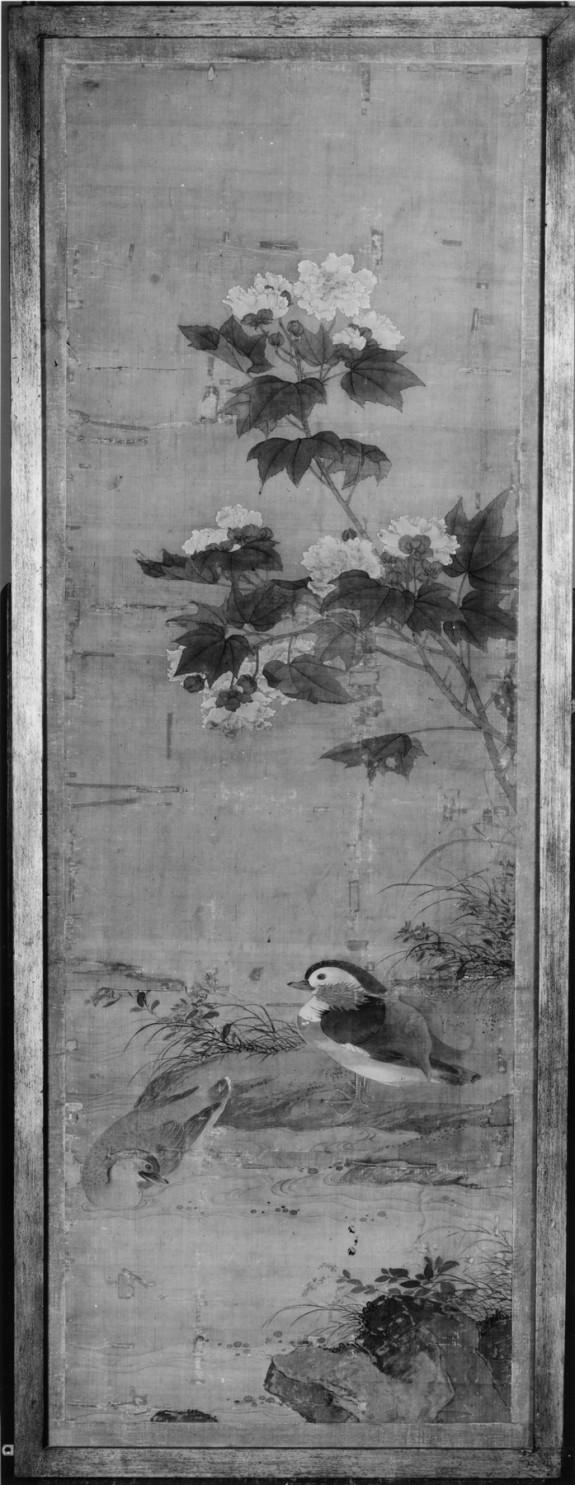 Mandarin Ducks and Tree Peonies