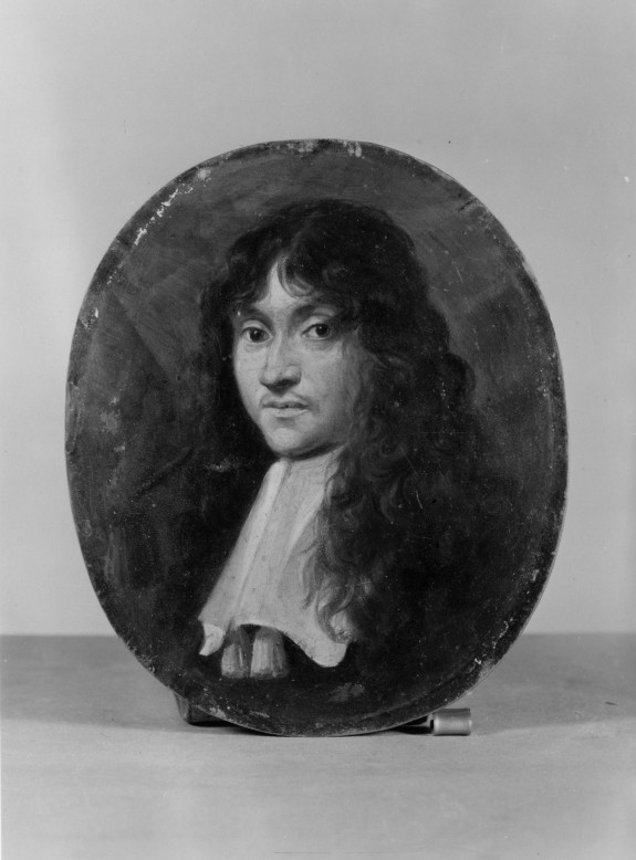 Bust Length Portrait Of Man In 17th C.