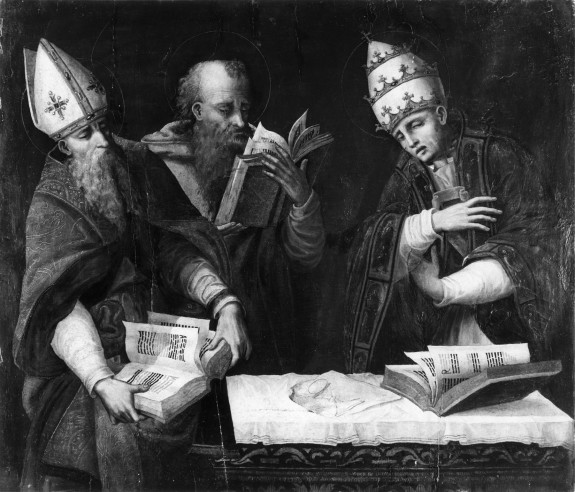 Saints Augustine, Jerome and Gregory the Great