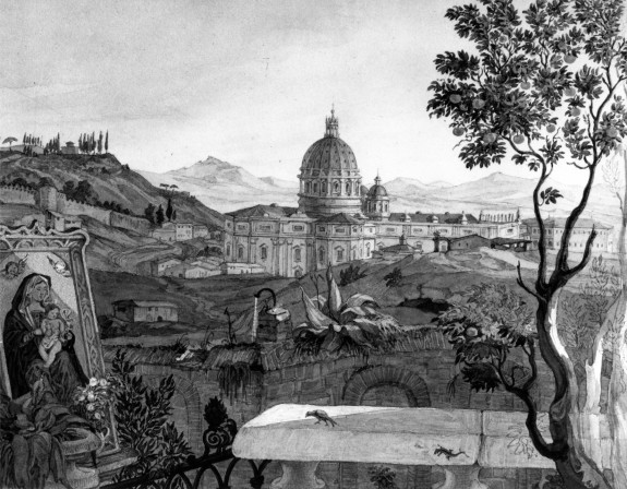 View of St. Peters, Rome