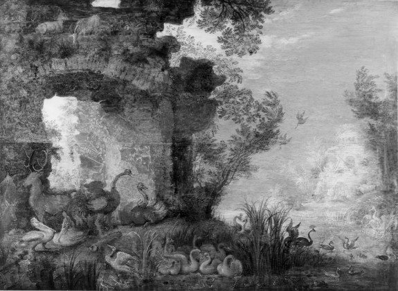 Landscape with Ruins, Birds and Beasts
