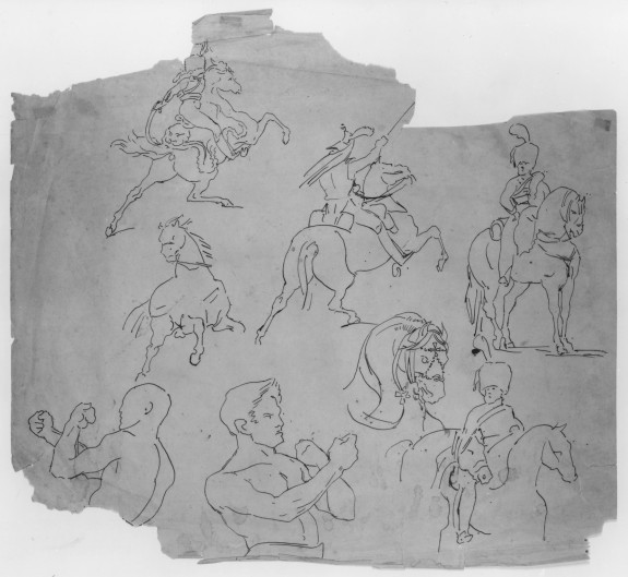 Studies After Géricault