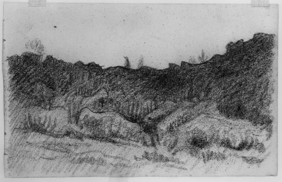Landscape with Hills and Rocks