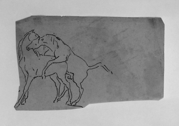 Tracing of a Sketch of Horses Mating