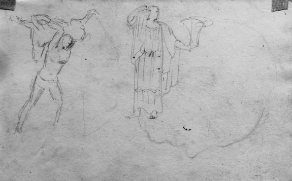 Drawing of Classical Statues