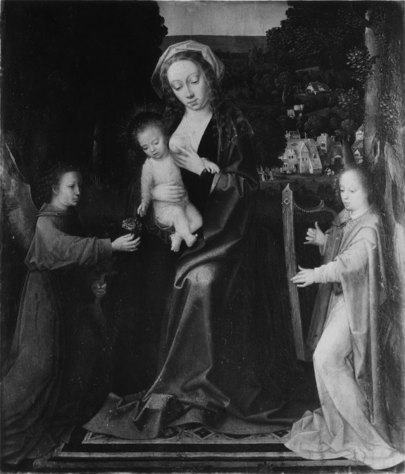 Virgin and Child with Two Angels in a Landscape