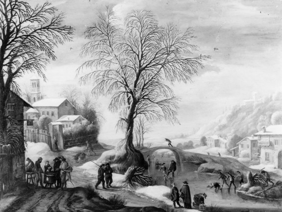 Winter Scene with Skaters