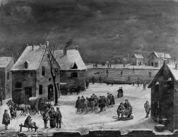 Winter Scene in a Village