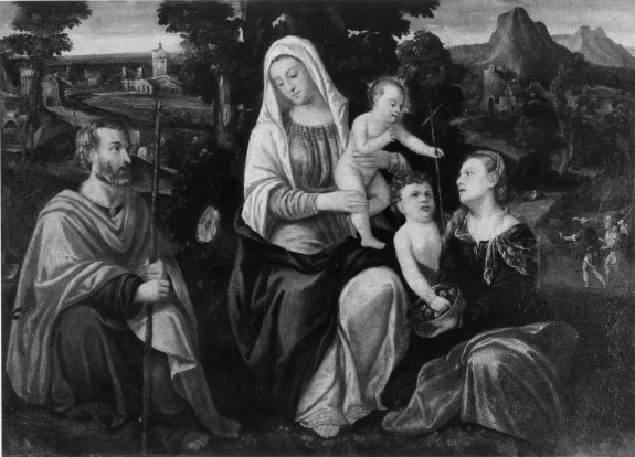 The Holy Family with the Young St. John the Baptist and St. Dorothy
