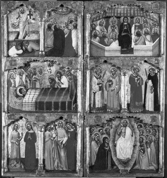 New Testament and Apocryphal Scenes with Saints