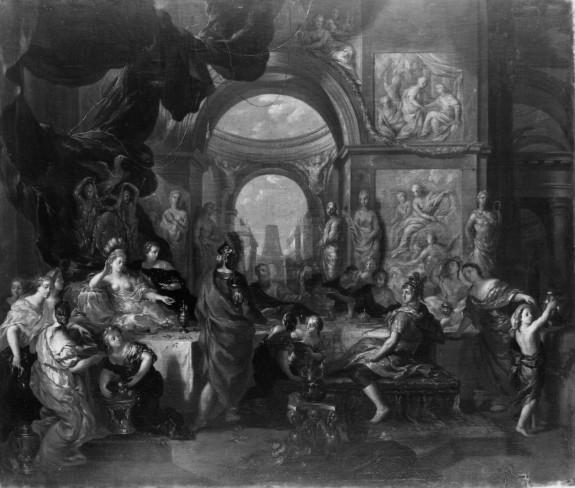 Cleopatra Melting the Pearl before Antony