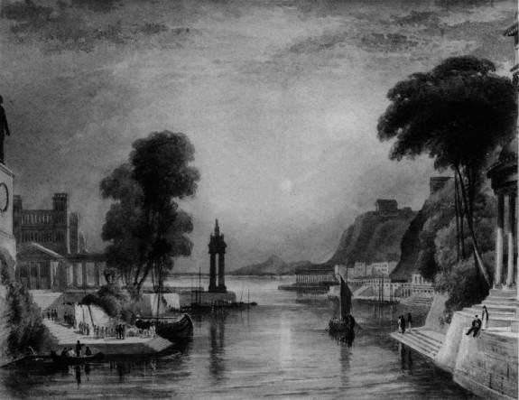 Landscape, probably a copy after Turner