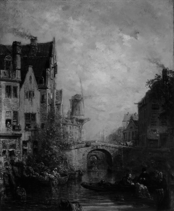 Canal Scene, Holland