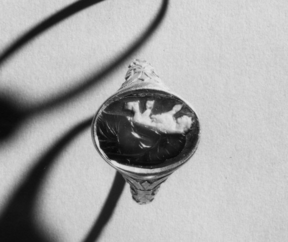 Intaglio with Athena Promachos Set in a Ring