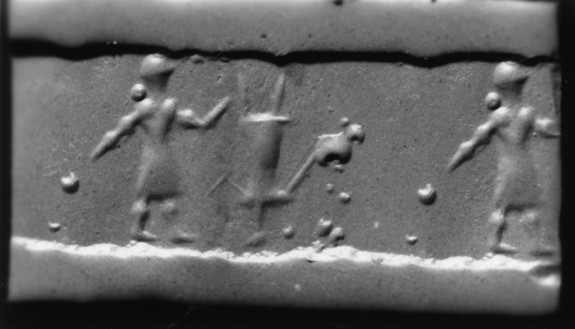 Cylinder Seal with Figure of a Man