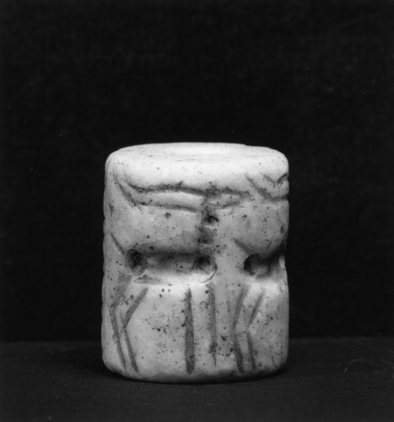 Cylinder Seal with Horned Animals before a Temple