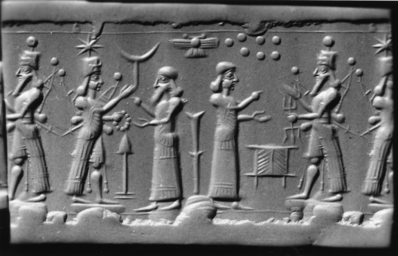 Cylinder Seal with a Cultic Scene