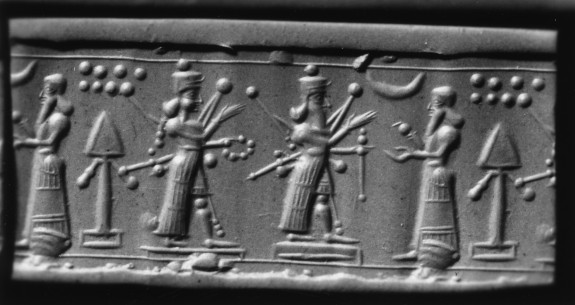 Cylinder Seal with Three Standing Figures