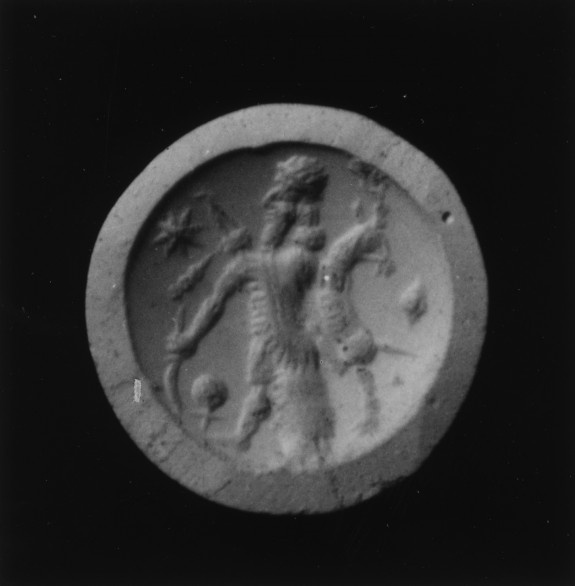 Stamp Seal with a Hunter Holding a Horned Animal