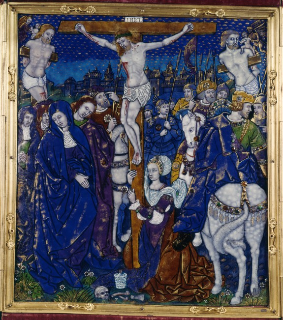 Triptych with Crucifixion