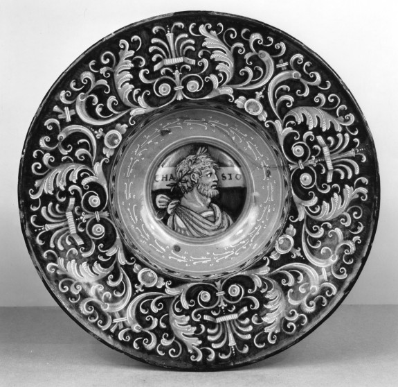 Dish with Roman Profile Head