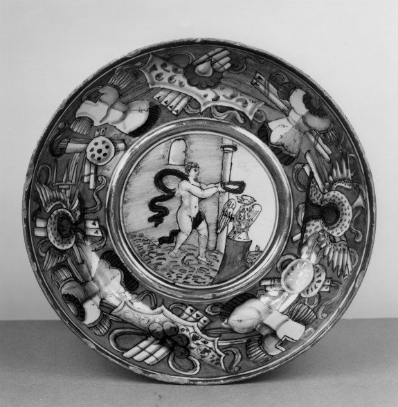 Bowl with Crowning of a Roman Eagle with Victory