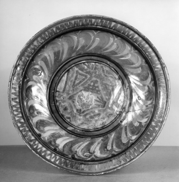 Small Dish with Geometric Ornament