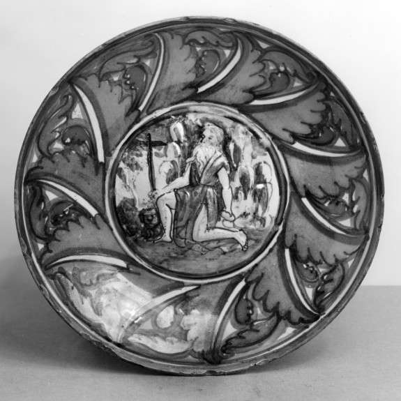 Small Dish with Saint Jerome