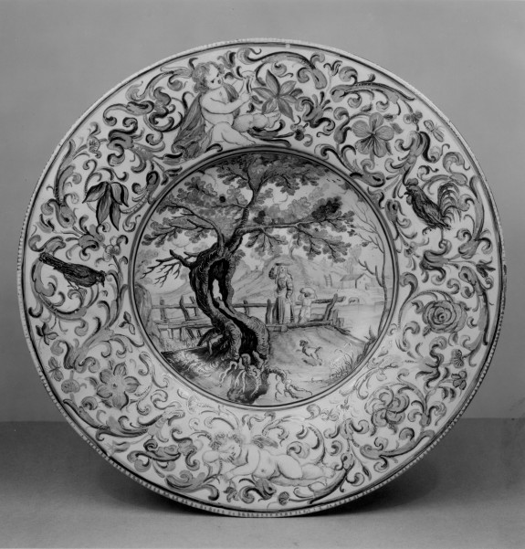 Plate with an Idyllic Rural Landscape