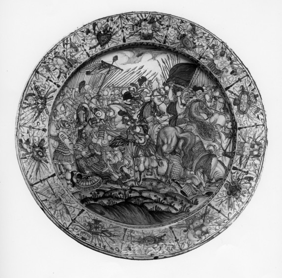 Platter with Alexander and Porous after the Battle of Hydaspes