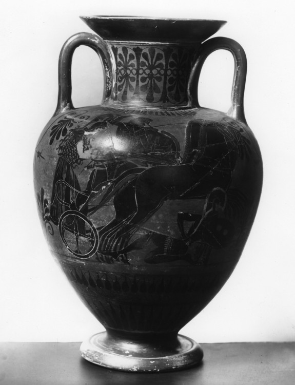 Amphora Depicting Gigantomachy and Contest Between Herakles and Kyknos