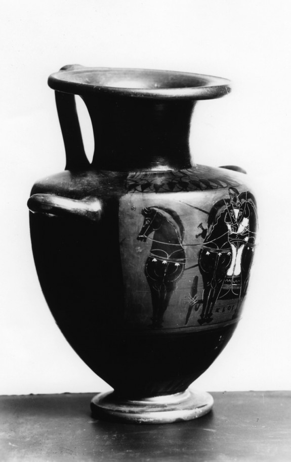 Hydria with a Quadriga