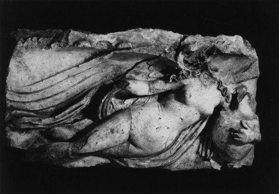 Architectural Relief of a Winged Nude Woman