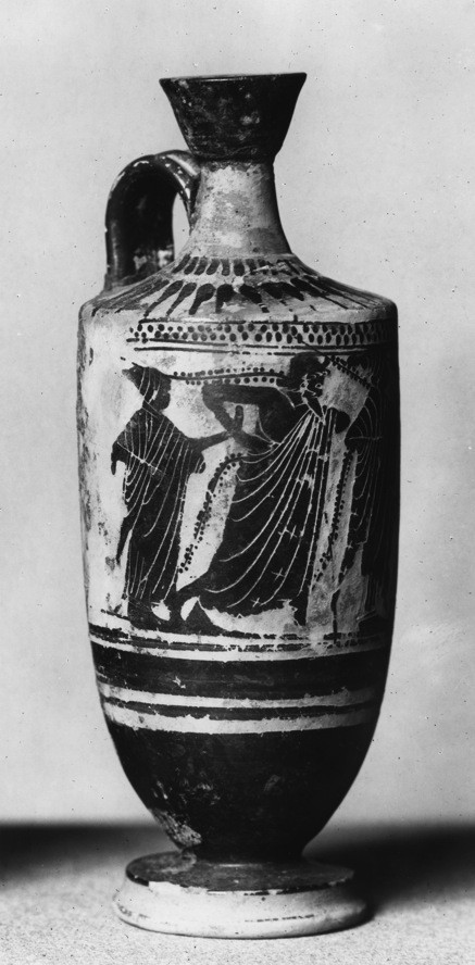 Lekythos with Male and Female Figures