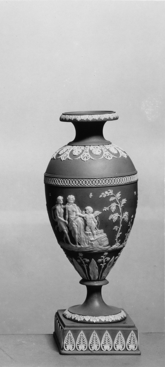 Vase with Apollo, a Nymph, and Cupid
