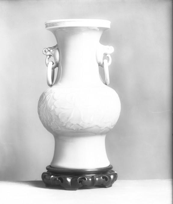 Vase with Design of Chrysanthemums
