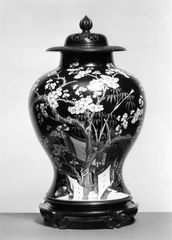 Vase with Flowering Plum Design