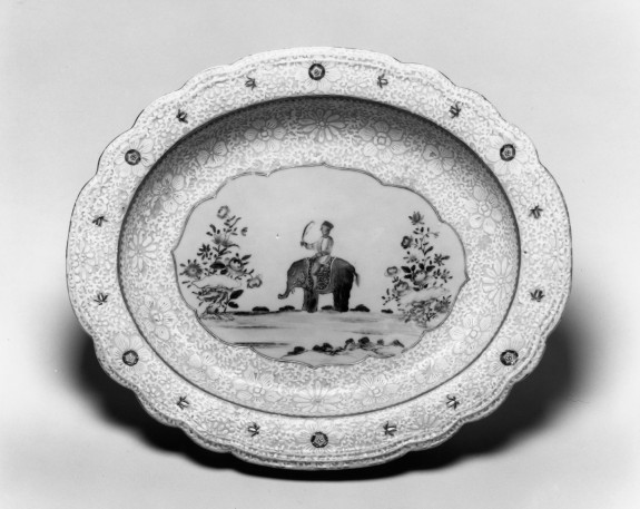 Platter with Elephant and Rider