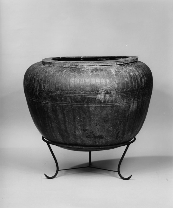 Bowl with Incised Lotus, Spirals, and Tongue Patterns