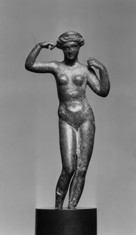 Aphrodite Binding Her Hair