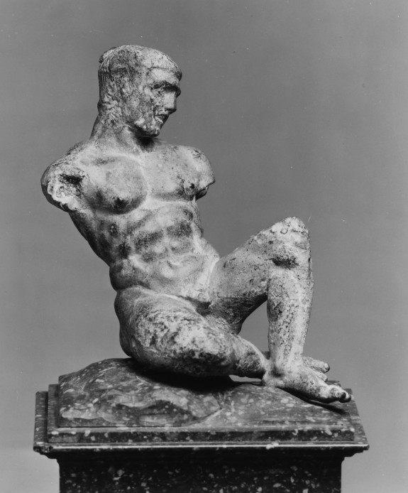 Statuette of an Athlete on a marble block