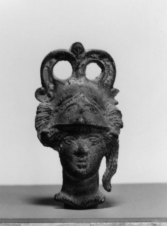 Head of Athena Wearing Corinthian Helmet